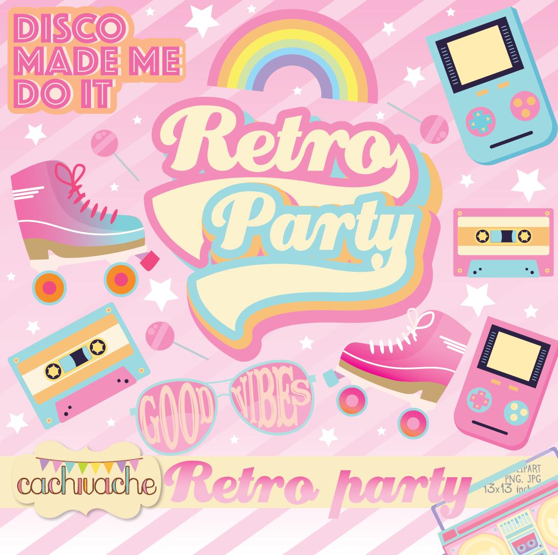 retro roller party