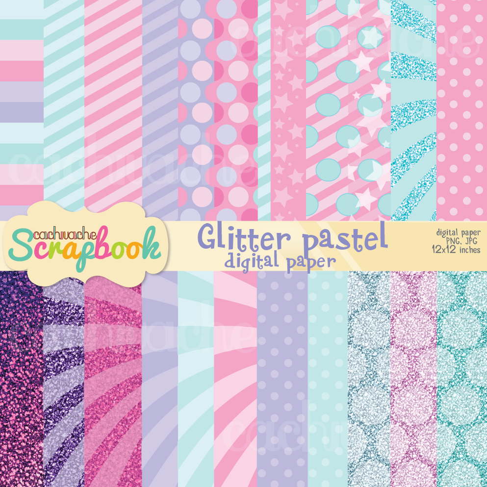 glitter digital paper